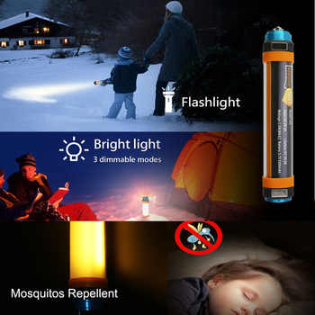 Multi-Function LED Camping Lantern With Magnet Tent Light IP68 USB Charging Outdoor Emergency Power Light 6 Modes Flashlight