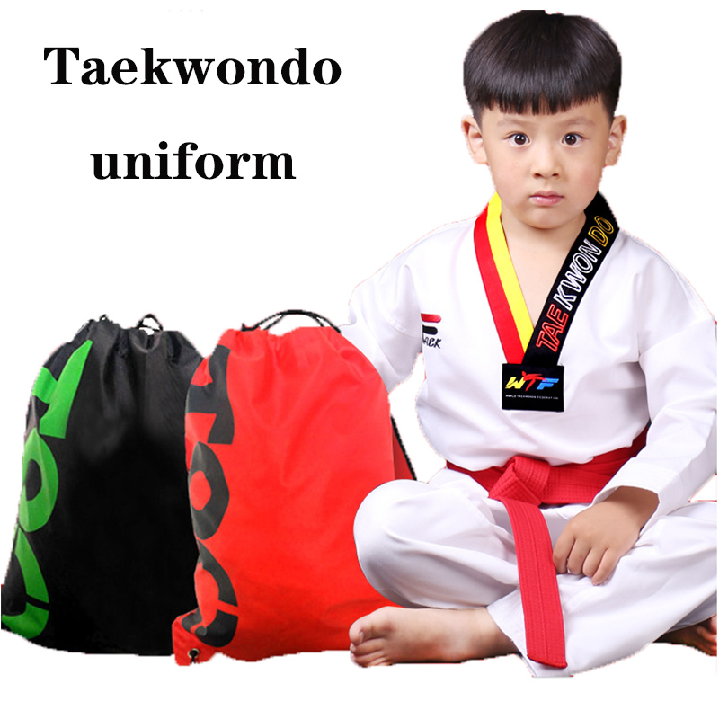 Adult Child Judo Karate Uniform Cloth Martial Art Taekwondo Dobok White Belt