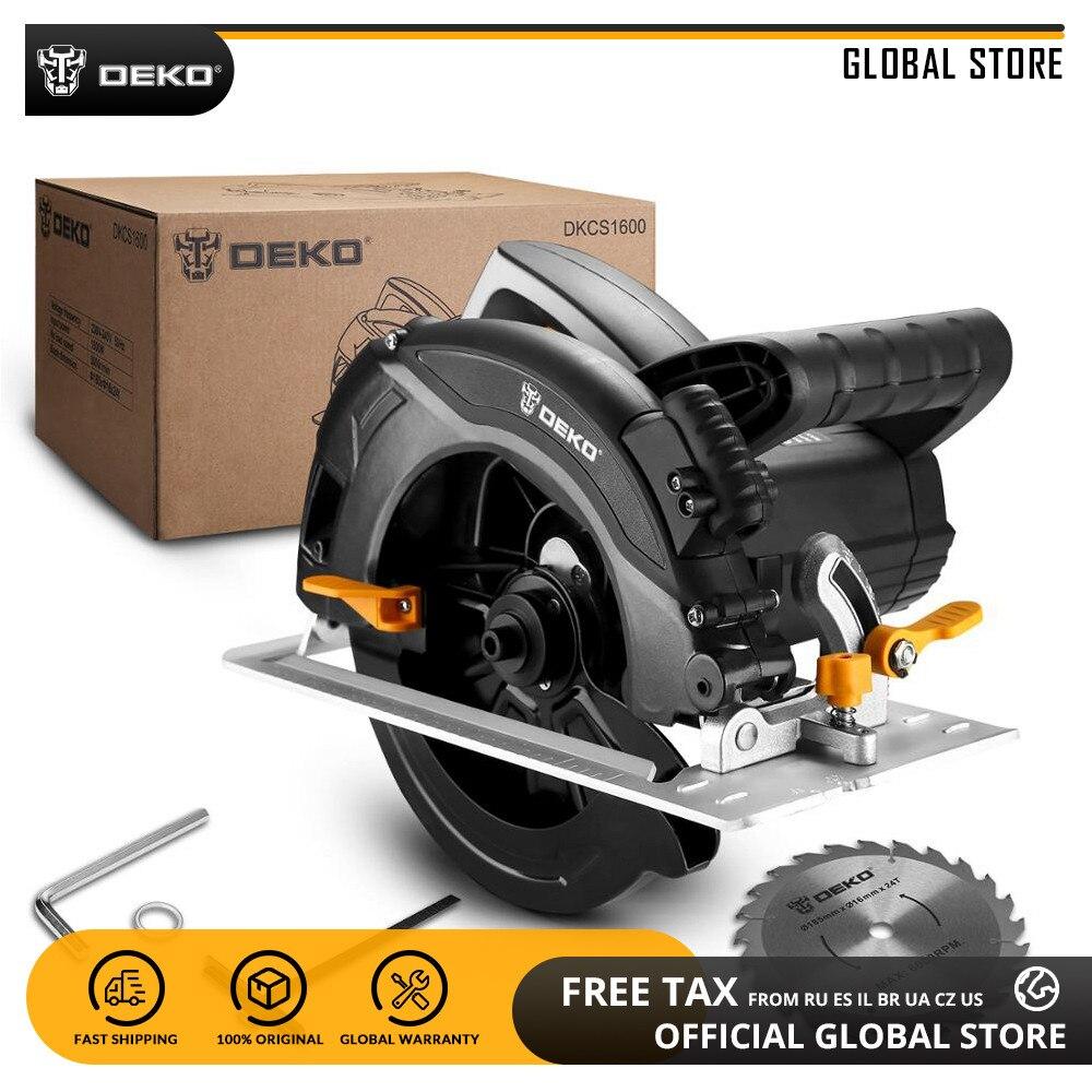 DEKO DKCS1600 электрическая циркулярная пила для деревообработки многофункциональная режущая машина электрические пилы электроинструменты