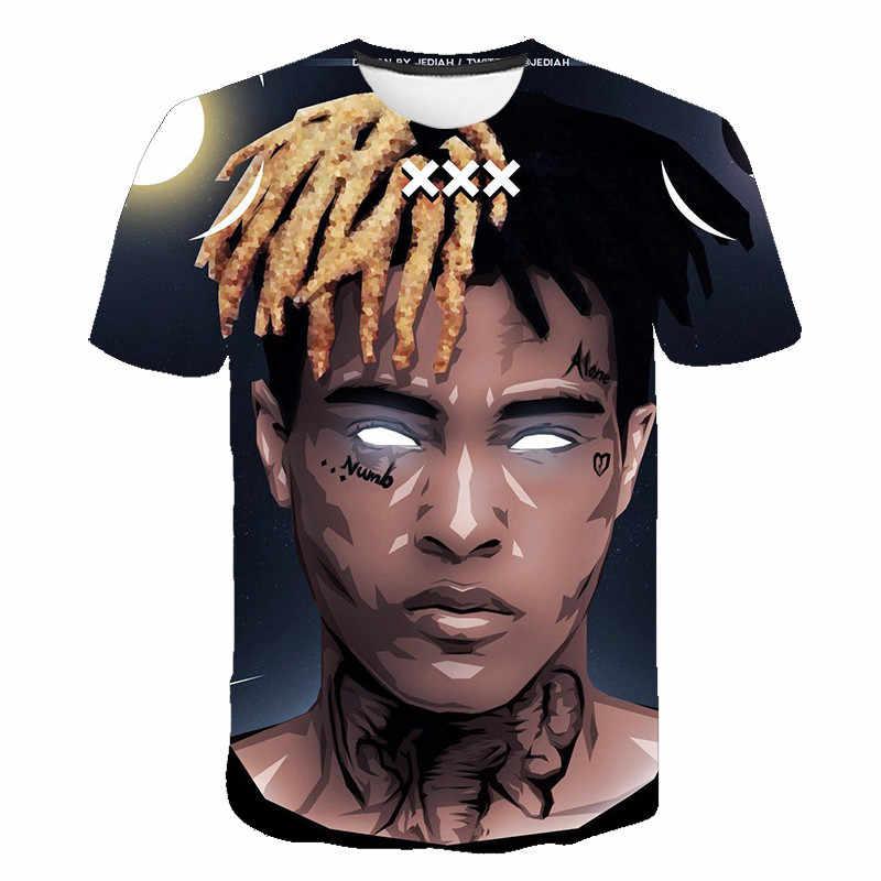 새로운 Aikooki 3D Xxxtentacion t 셔츠 남성/여성 Hot Raper 패션 힙합 3D 인쇄 Xxxtentacion 반팔 남성 t 셔츠