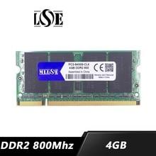MLLSE speicher ram DDR2 4gb 8gb 800 Mhz PC2-6400 sodimm laptop notebook , memoria ram ddr2 4gb 800 Mhz pc2-6400s, ddr 2 4g 4gb ram