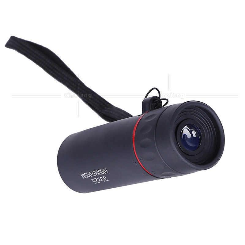 Lornetka teleskopowa HD 30x25 powiększanie ostrości zielona folia Binoculo optyczne polowanie wysokiej jakości turystyka zakres