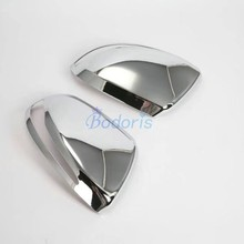 For Mercedes Benz V Class V260 2014 2015 2016 2017 2018 Side Mirror Cover Rear View Overlay Chrome Car Accessories abs chrome side wing fender rearview door mirror trim cover for mercedes benz v class v250 v260 v220 2014 2015 2016 2017
