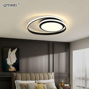 Image 1 - Modern Ceiling Lights LED Lamp For Living Room Bedroom Study Room White black color surface mounted Ceiling Lamp Deco AC85 265V