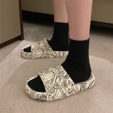 New Couples Stylish Adult Sandals Slip-Proof Thick-Soled Indoor Outdoor Slippers Men Flip Flops House Sleepers Shoes Woman Home