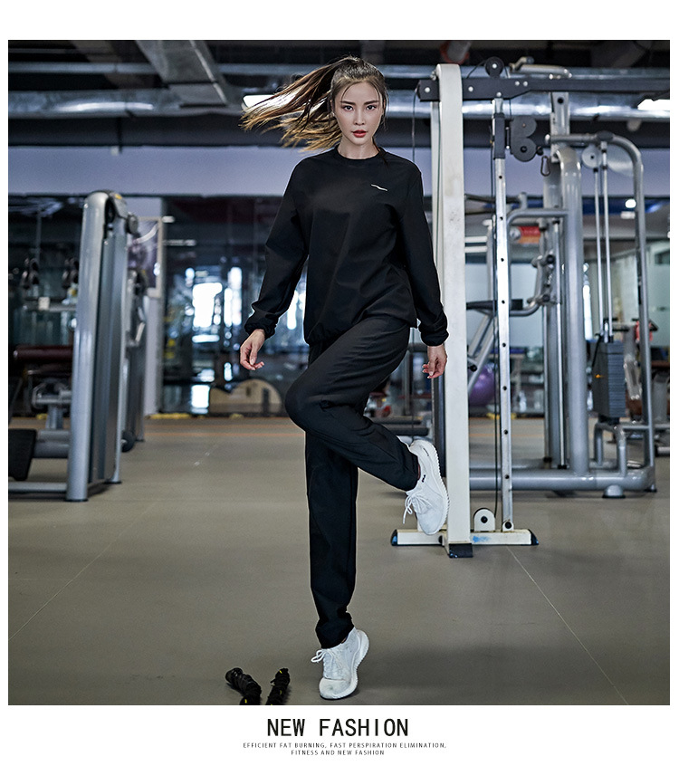 Sweat Sauna Suit Exercise Fitness Jogging Track Suit Ship Running Slimming L4I5