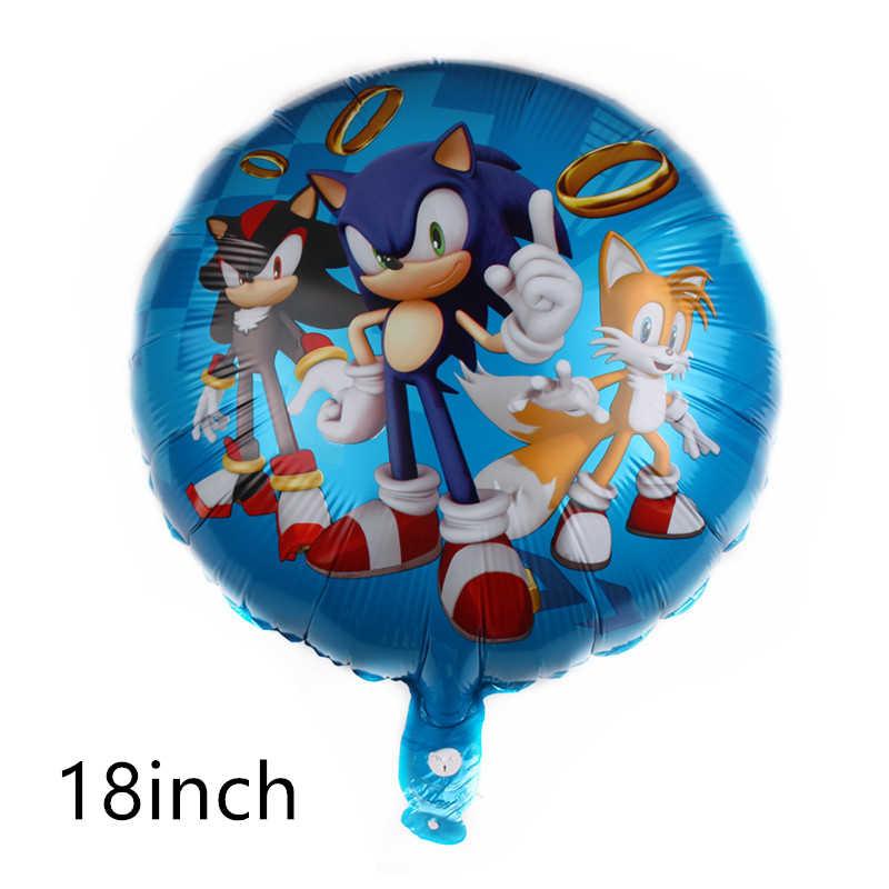 Nieuwe Sonic Latex Ballonnen Hedgehog Folie Ballons Sega Game Fans Thema Party Decoraties Gelukkige Verjaardag Banner Kids Speelgoed Globos