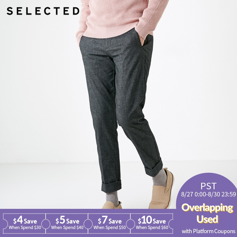 SELECTED  Autumn Winter New Style Male Slack Pants S|418414525