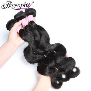 Image 4 - Brazilian Hair Weave Bundles Body Wave Bundles 100% Human Hair Extension Remy Hair 28 30 32 34 38 40 8 40 inch 30 inch bundles