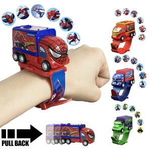 Kids Toy Watch Bat Iron Man Super Hero Electronic Gadgets Toys Cars Boys Birthday Gift Projection Toys for Children