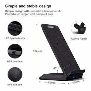 Image 3 - NILLKIN Qi Wireless Charger Stand for iPhone XS/XR/X/8/8 Plus Fast 10W Wireless Charger For Samsung Note 8/S8/S10/S10E