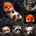 Nicht fertig Material Paket Tier Haustier Puppe Spielzeug Wolle Nadel Filzen Kit Hund Katze Fuchs Kaninchen Entspannt DIY Kit Für kinder Kinder