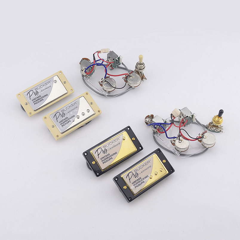 1 Set  Original Genuine Epi Standard PRO Electric Guitar Alnico Humbucker Pickup  Nickel / Gold Cover