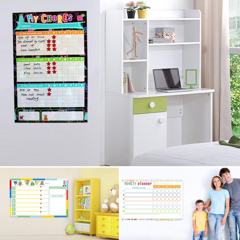 Self-Discipline Table Whiteboard Wall Sticker Seamless Glue On The Back Mobile Whiteboard Magnetic Erasable Whiteboard For Child