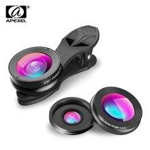 APEXEL Universal 3IN1 Clip-on Phone Camera Lens Lentes Kit F