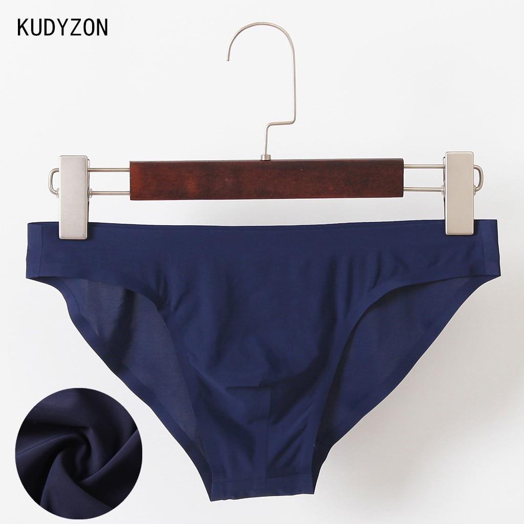 Sexy Gay Underwear Men Briefs Shorts Ice Silk Seamless Underpants Bulge Pouch Male Panties Ultra-thin Men's Briefs Slip Homme