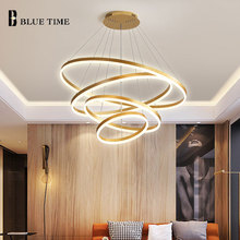цены 5&4Rings Modern Led Ceiling Lights Living room Lights Dining room Kitchen Acrylic Led Chandelier Ceiling Lamp Lights Fixtures