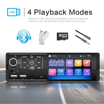 1 Din Bluetooth Car Radios 4.1 Touch Screen Multimedia MP5 Player Auto Stereo Radio Support Micophone and Rear View Camera image