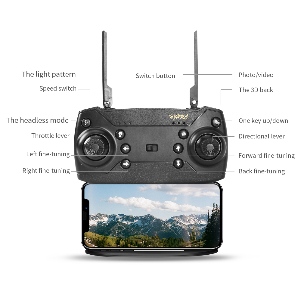 cheapest Professional GPS With 4K Wide Angle Drone Camera  Follow me WIFI FPV Quadcopter Foldable Altitude Hold Durable RC Drone