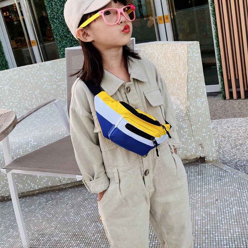 Hot Sale Waist Packs Classic Delicate Casual Fanny Chest Shoulder Messenger Bag Nylon Hit Color Kids Waist Pouch Purse