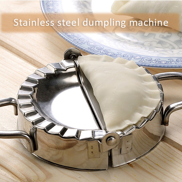 Mini Dumpling Maker Reuse 304 Stainless Steel Jiaozi Mold Clips Food Wrapper Cutter Pastry Dough Press Pie Kitchen Cooking Tools