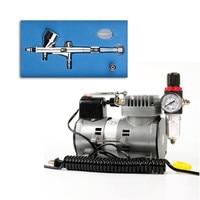 Airbrush Compressor Quiet High pressure Pump Tattoo Manicure Spraying Air Compressor with Tank Tattoo Tool