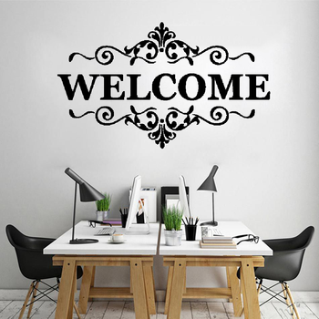 Vinyl wall stickers welcome to our home decals, quotes welcome, office bedroom decor