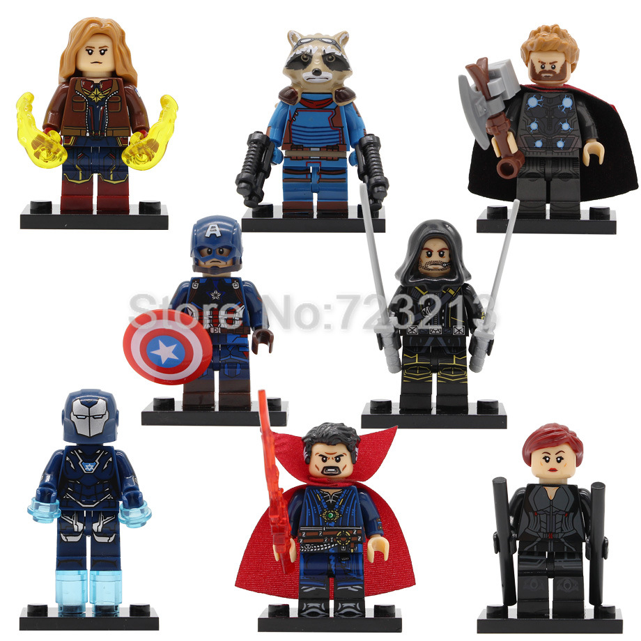 Avengers Endgame Super Hero Figure Thor Dr Strange Pepper Black Widow Captain America Marvel Building Blocks Brick Toys Legoing