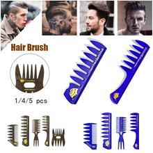 New Style Men's Gentleman Large Wide-tooth Comb Plane Styling Hairdressing Comb Bone Shape Fish Tail Texture Comb Hair Brush janeke silver large wide tooth comb