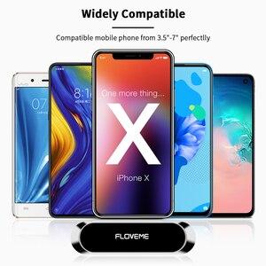 Image 3 - Soporte magnético de teléfono de coche FLOVEME para teléfono en coche soporte de teléfono de banda magnética fuerte para iPhone 11 Pro Samsung Universal Suporte