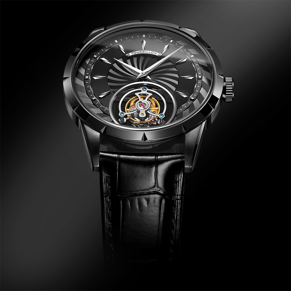 100% Tourbillon Watch men GUANQIN watch Skeleton mechanical Sapphire Mens Watches Top Brand Luxury clock men Relogio Masculino 2