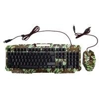 Mechanische Tastatur RGB Backlit USB Wired Gaming Tastatur Nachahmung Mechanische Fühlen 104 Tasten Wasserdichte Computer Spiel Tastaturen