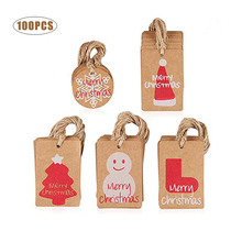 Merry Christmas with Love Cards for Gift DIY Decoration Wrapping Hang Tags Home Tree Items Craft Hat Snowman
