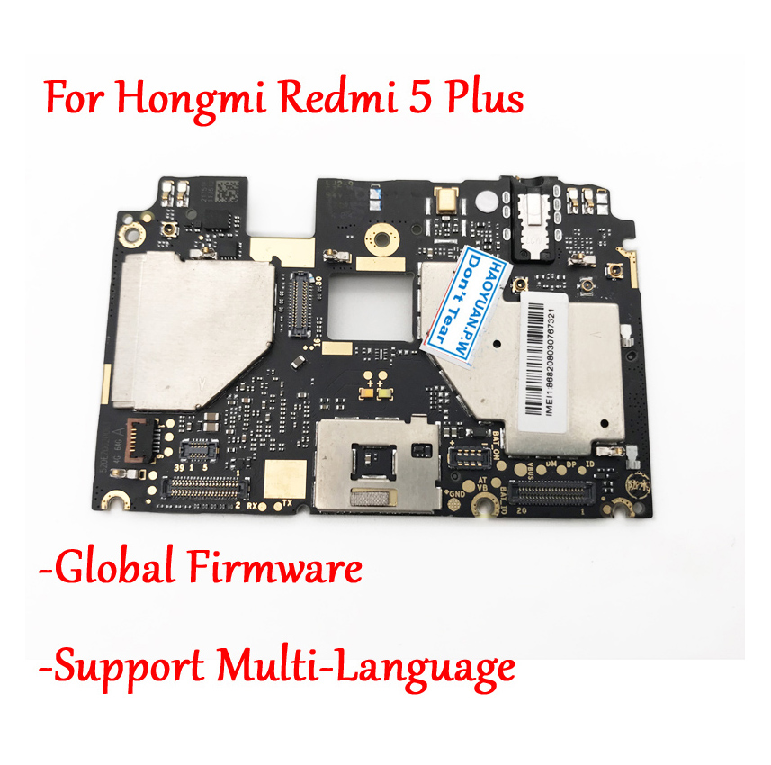 Global Firmware Tested Full Work Original Unlock Motherboard For Xiaomi Hongmi Redmi 5 Plus Logic Circuit