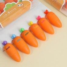 Mohamm 6 couleurs/ensemble mignon radis surligneur stylo créatif école fournitures de bureau papeterie