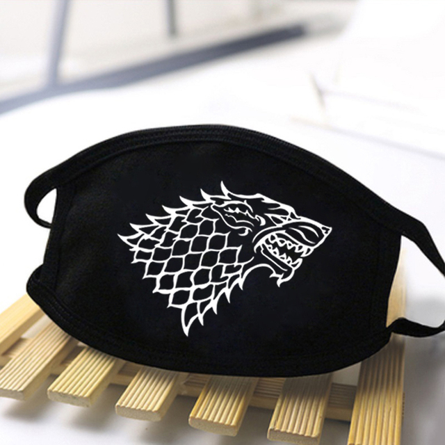 Man Game Of Thrones Masks Not Today Face Respirator Anti Mouth Mask Breathable masque de protection Women Streetwear kpop Masks 1