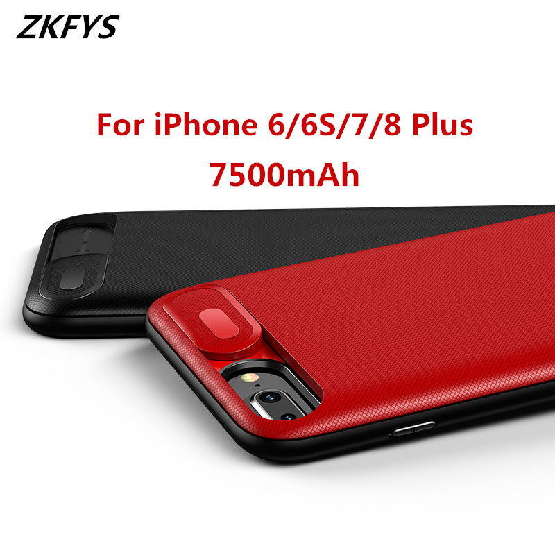7500mAh External Power Bank Battery Charger Case For iPhone 7 8 Plus High Quality Cover 6 6S