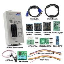 RT809F серийный ISP программист с 11 адаптерами+ 1,8 в адаптер+ SOP8 тестовый зажим лучшее качество