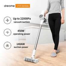 Портативный циклонный беспроводной пылесос Dreame V10 boreas с функциями чистка ковров, всасывание 22000 Па, фильтр, уборка пыли