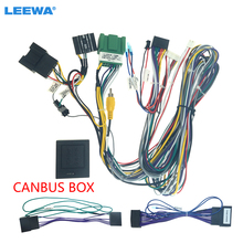 LEEWA Car Audio 16PIN Android Power Cable Adapter With Canbus Box For Chevrolet Cruze Buick Regal Verano Wiring Harness #CA6558
