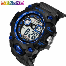 SYNOKE Sport Watch Men Watches Outdoor Sport LED Digital