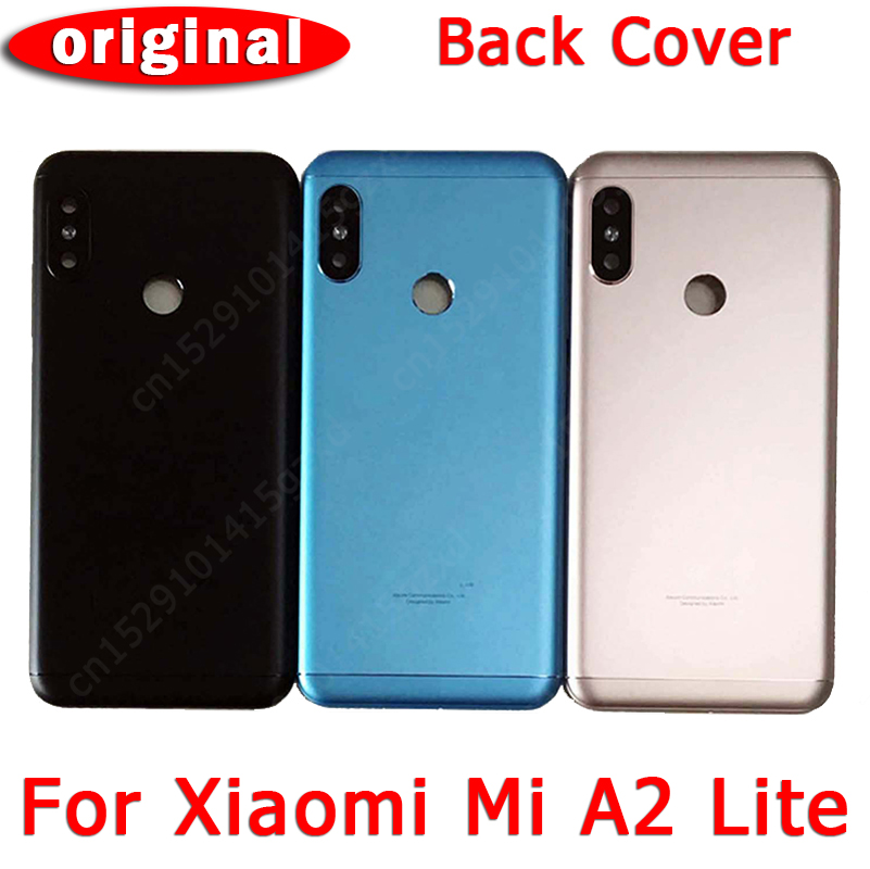 Original Back <font><b>Battery</b></font> Cover for Xiaomi <font><b>Mi</b></font> <font><b>A2</b></font> Lite back housing cover <font><b>case</b></font> with adhensive for Redmi 6 Pro replacement spare parts image