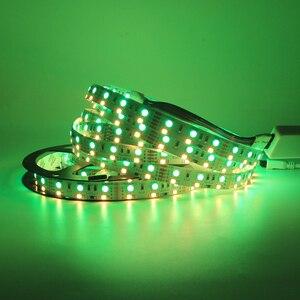 Image 5 - 5m Double Row 600 LED Strip light 5050 RGB + 2835 White / Warm White 12V 120 LED/m led Flexible ribbon tape lamp RGBW