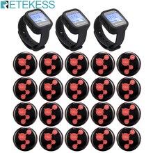 3 шт. Беспроводная система вызова Retekess TD106 водонепроницаемый приемник часов + 20 кнопок вызова пейджер обслуживание клиентов для ресторана