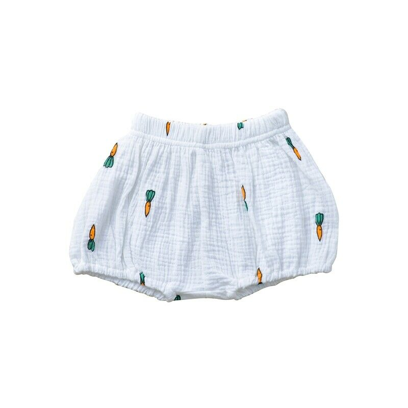 cotton linen bloomer white carrot shorts