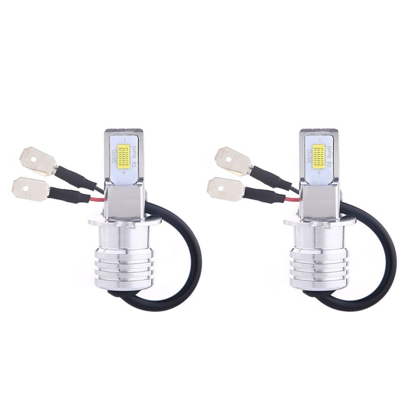 2PCS H3 Led Bulbs for Fog Lights 80W 3570 2SMD 6000K White LED Fog Lights DC12 24V