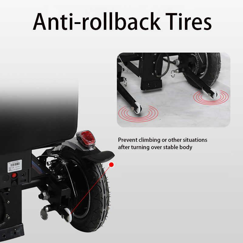 מתקפל ניידות קטנוע ארבעה גלגל רכב חשמלי קטן גלגלים לנכים קשישים קטנוע כיסא גלגלים חשמליים נכים