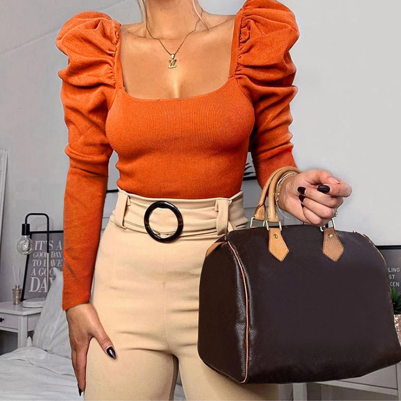 2020 Winter Autumn Women Tshirts Pullover Crop Top Tees Long Sleeve Black White Solid Short Top Tees T-shirts Women 1