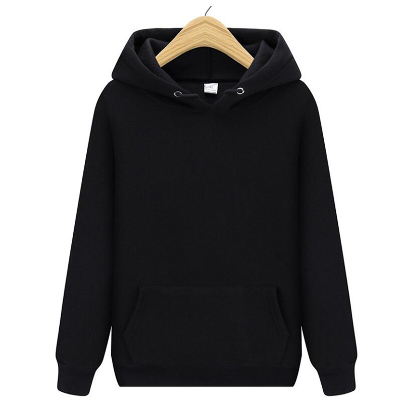 Plus Size Solid Color Sweatshirts Woman Autumn 2019 Winter Coat Women Couple Hoodies Harajuku Tops White Punk Womens Clothing