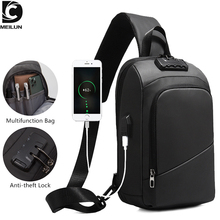 DC.meilun Multifunction Crossbody Bag for Men Anti-theft Shoulder Messenger Bags Male Waterproof Short Trip Chest Bag Pack a2749 leather crossbody bags dual use men chest bag casual messenger bag fashion men shoulder travel bag anti theft back pack